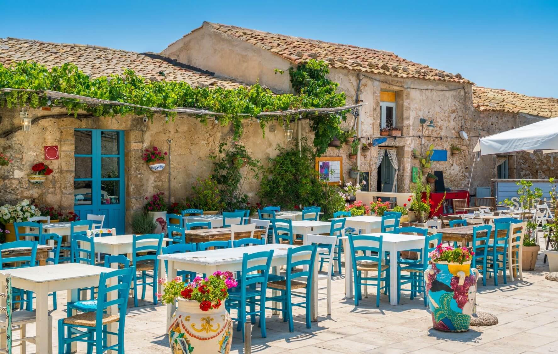 restaurant in Sicily